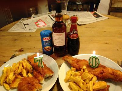 70th Birthday Fish&Chips and single malt