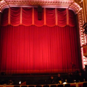 Inside theatre-red curtain